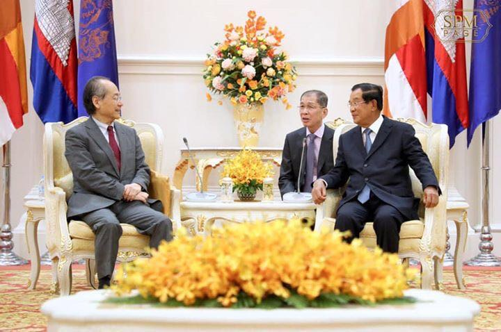 日本カンボジア協会 高橋大使とフンセン首相